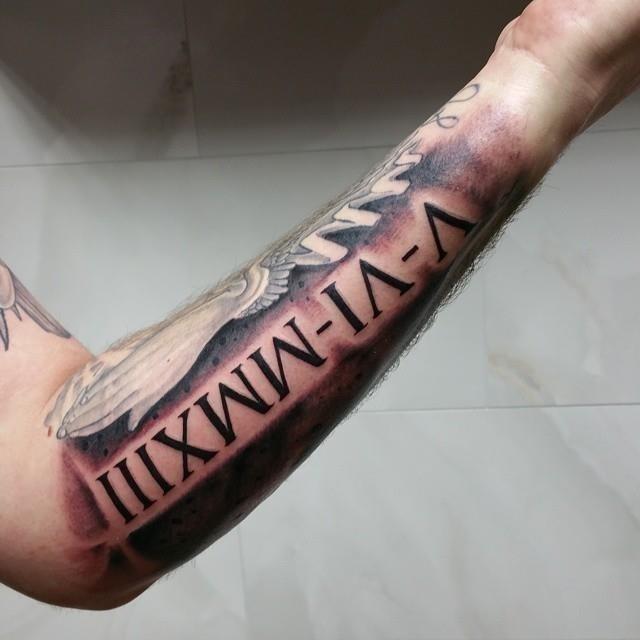 Roman numeral tattoo 19