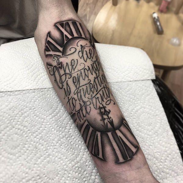 Roman numeral tattoos 019