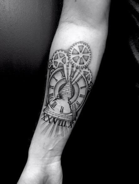 Roman numeral tattoos 07