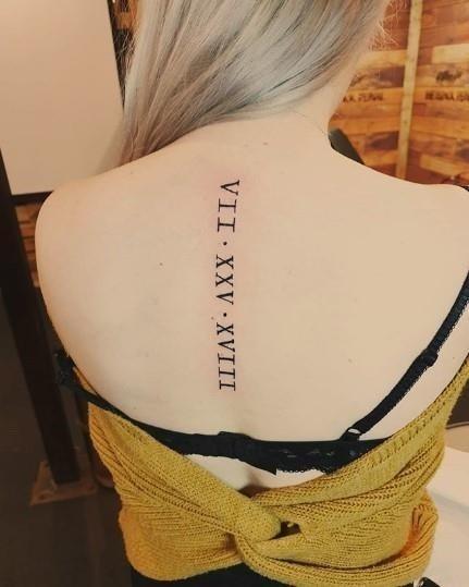 Roman numeral tattoos 077