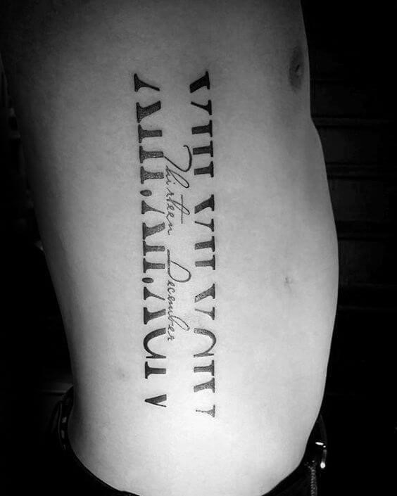 Roman numeral tattoos 32