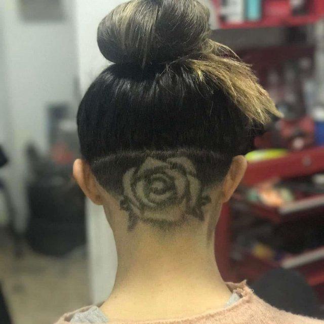 Rose hair tattoo