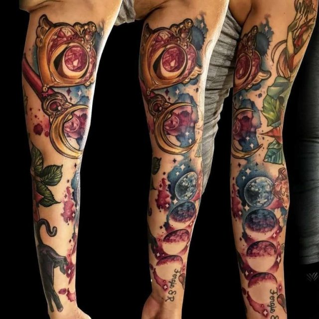 Rose phrases sailor moon tattoo