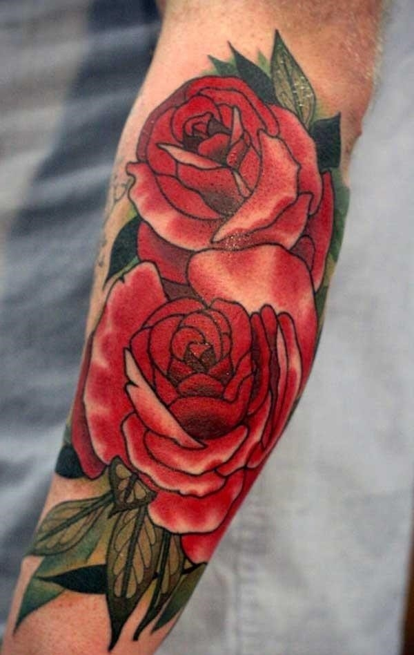 Rose tattoos for men 02