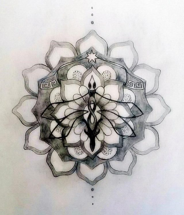 Sacred tattoo design mandala1