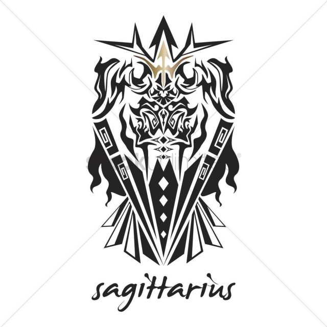 Sagittarius tattoo horoscope design 1969169