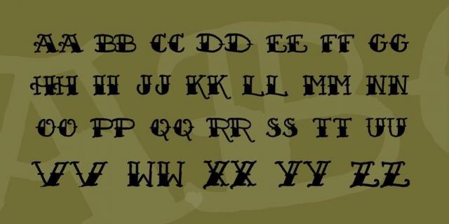 Sailors fat tattoo script font 3 big