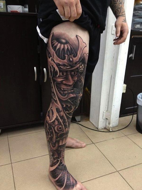 Samurai tattoos full leg
