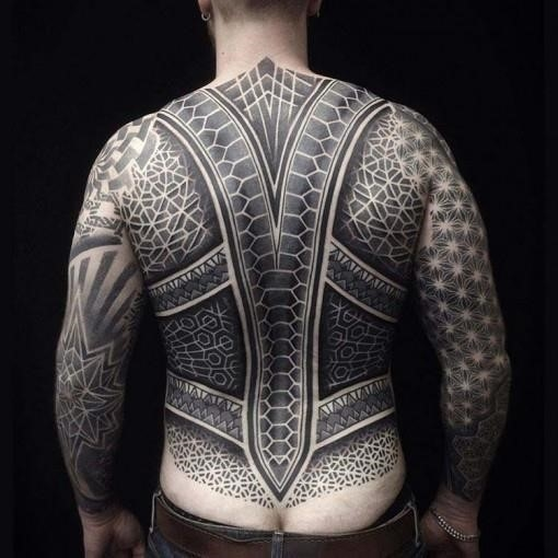 Scales back tattoo for men