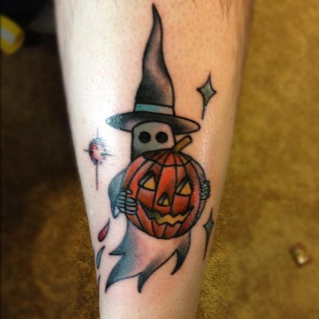 Scary halloween tattoo