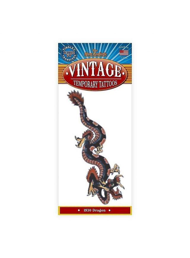 Schwarzer drache vintage klebe tattoo  mw 130094 1