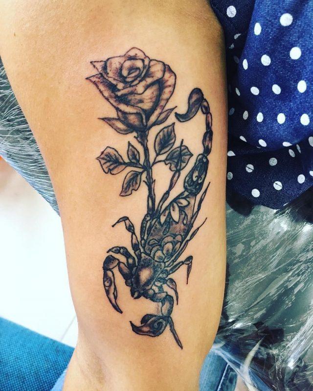 Scorpion tattoo  6