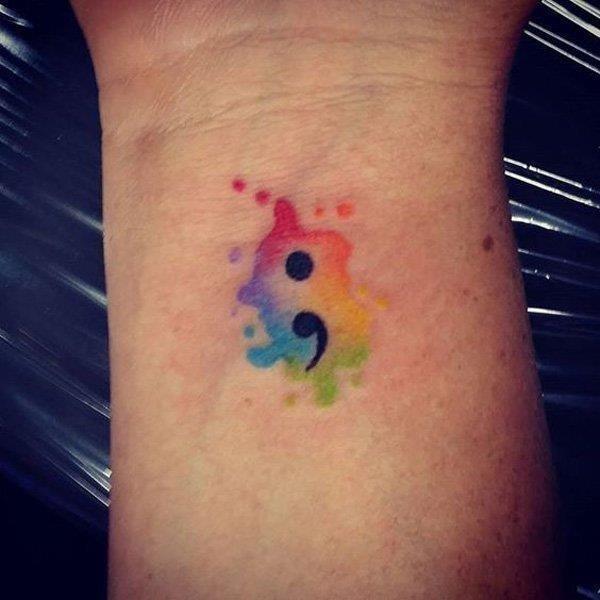 Semicolon tattoo 23