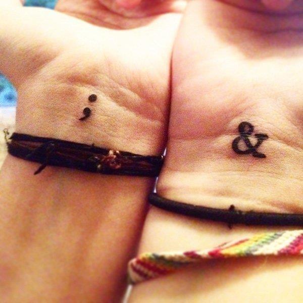 Semicolon tattoo 5