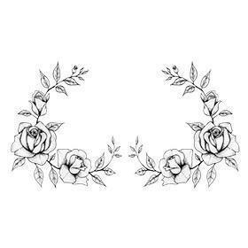 Sexy roses sideboob tattoo design 5