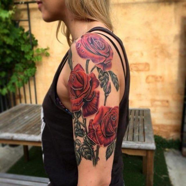 Shoulder tattoos 107