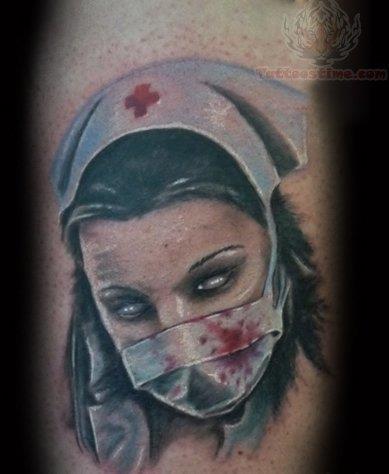 Sick nurse tattoo