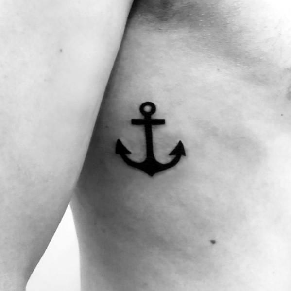 Simple anchor themed tattoo ideas