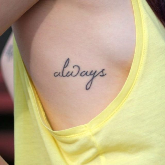 Simple one word tattoo