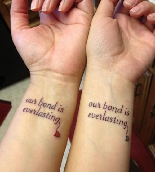 Sister matching tattoo 56