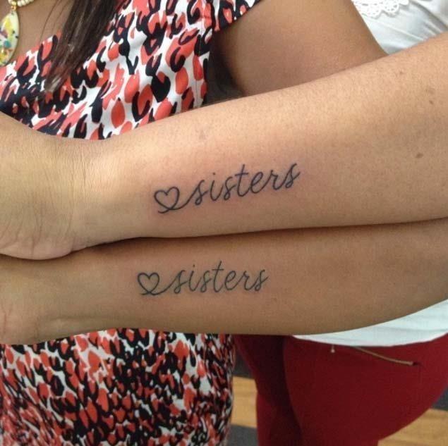 Sister sibling tattoos