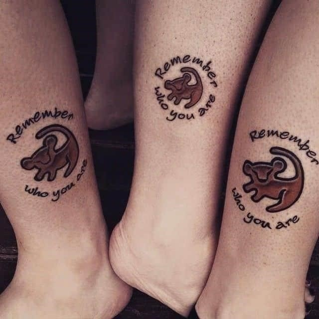 Sister tattoos for 3 8