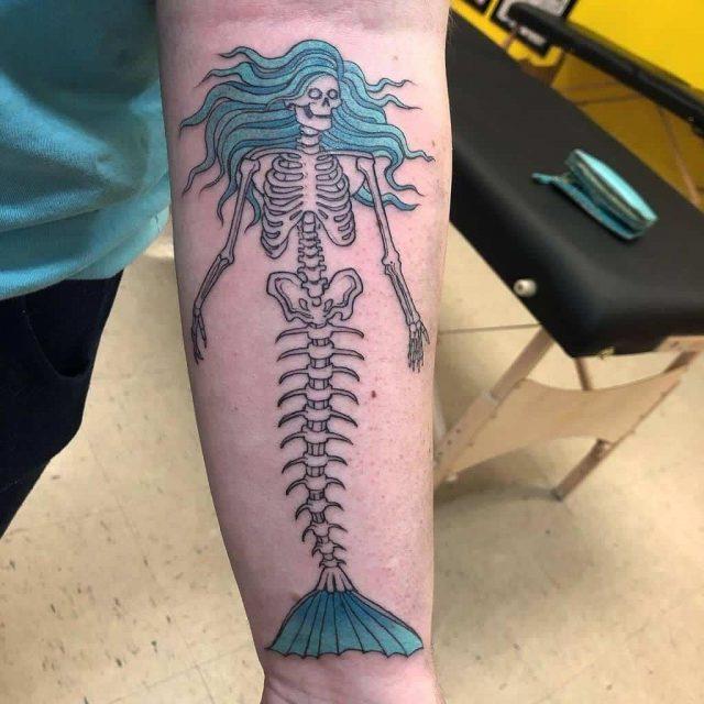 Skeleton mermaid gulf