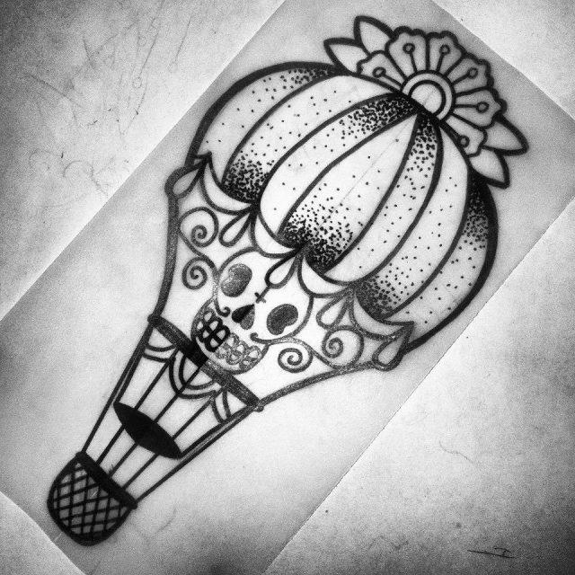 Skull tattoo flash designs 1