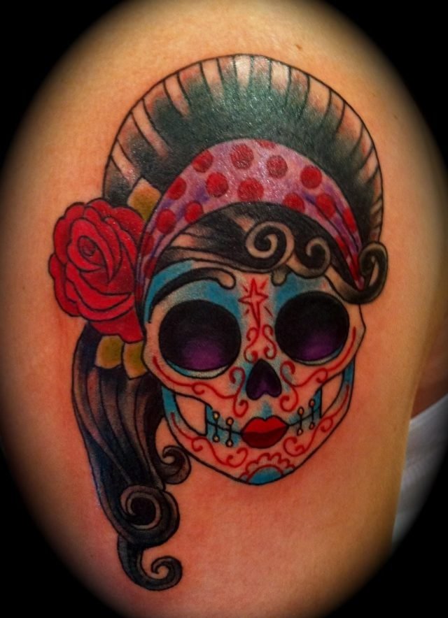 Skull tattoos miss kitty 2