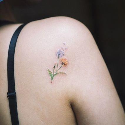 Small flower tattoos shoulder 2 medium