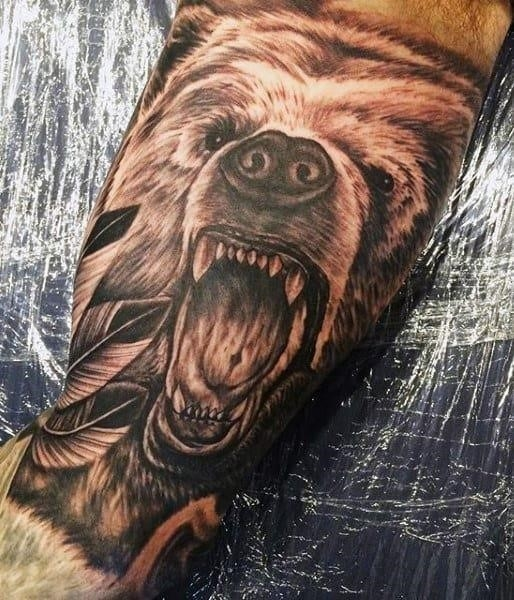 Small mens bear tattoos