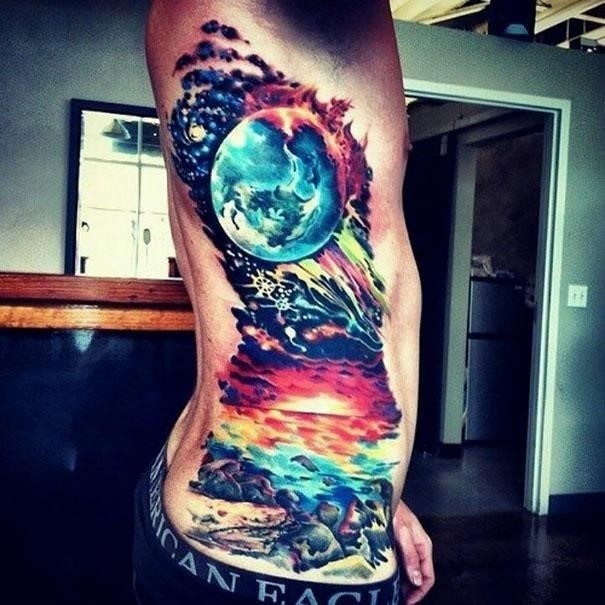 Space star tattoos 16