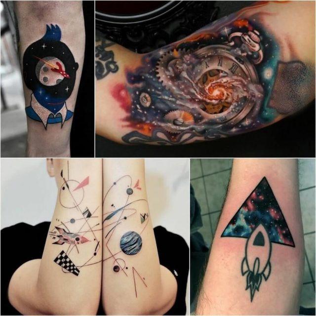Space tattoo planet tattoo rocket tattoo 1