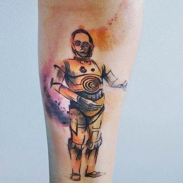Star wars c 3po tattoo 22