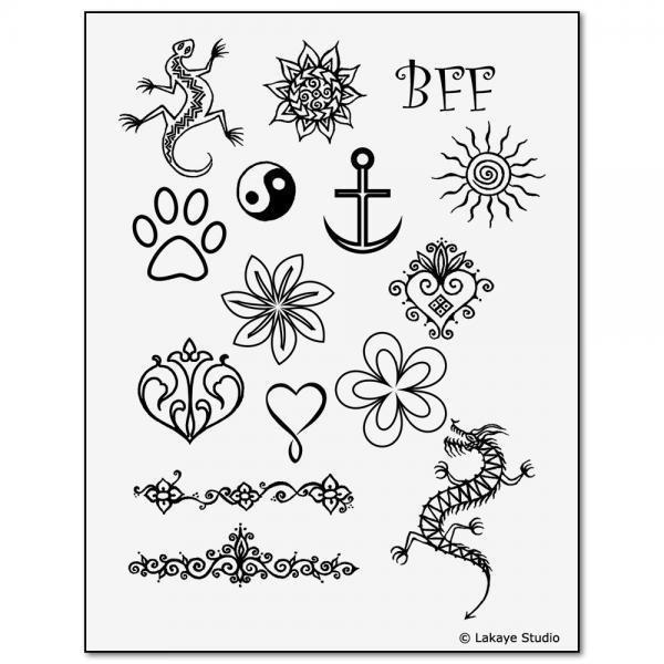 Stencils kit henna kids lrg