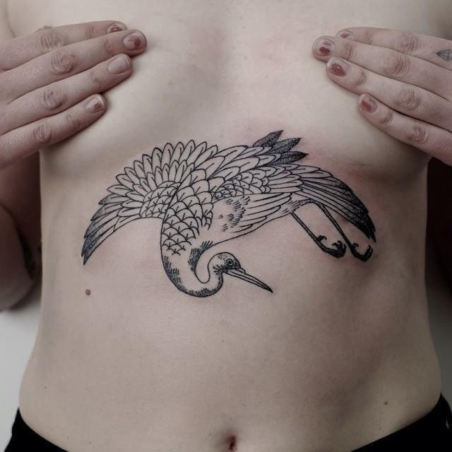 Sternum tattoo 44