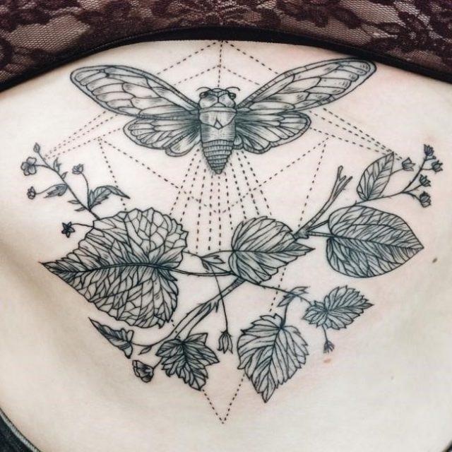 Sternum tattoo 48 650×650