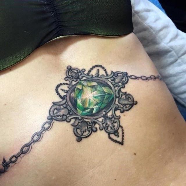 Sternum tattoo 60 650×650