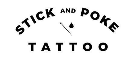 Stick and poke tattoo logo 1510171060
