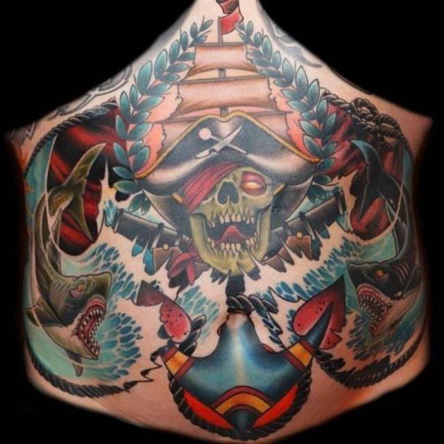 Stomach tattoo 22 650×650