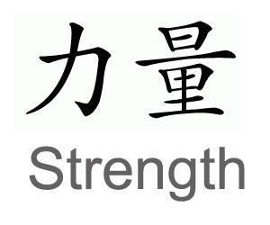 Strength chinese symbols tattoo design