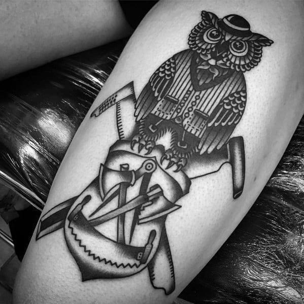 Stylish mens carpenter tattoos