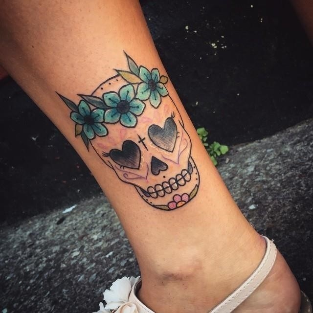 Sugar skull tattoo 18