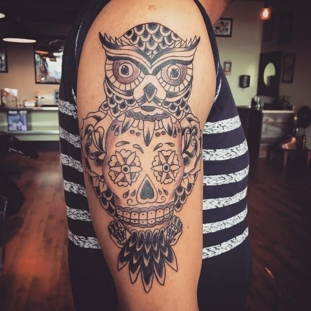 Sugar skull tattoo 21