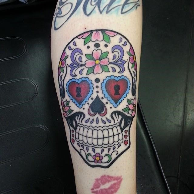 Sugar skull tattoo 23