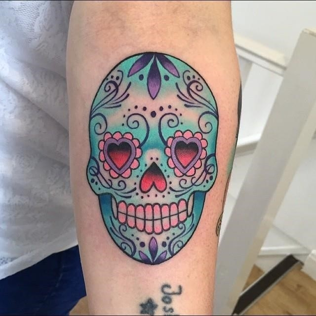 Sugar skull tattoo 47
