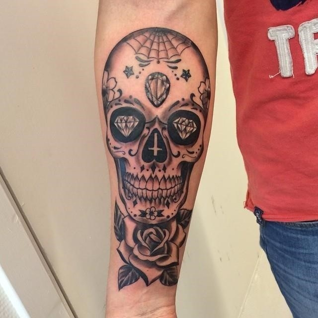 Sugar skull tattoo 52