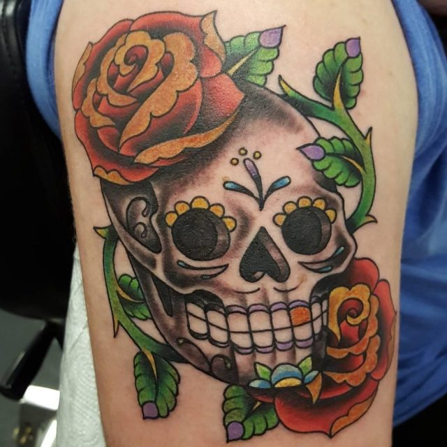 Sugar skull tattoo 53