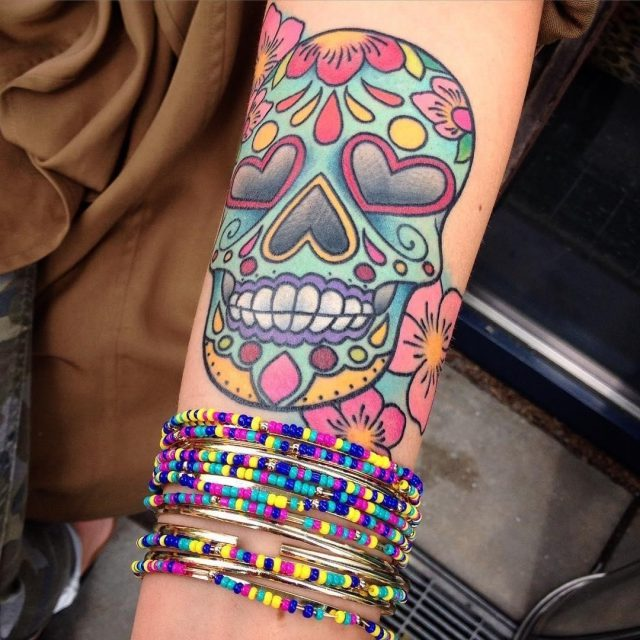 Sugar skull tattoo 59