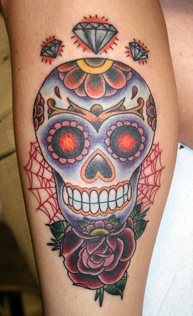 Sugar skull tattoo pictures
